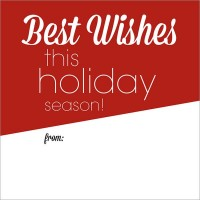 Best Wishes Gift Tag Sticker