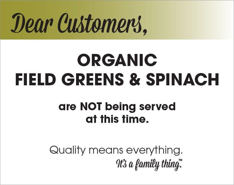 Organic Field Greens & Spinach Recall - PDF - Alphabet Soup, Inc